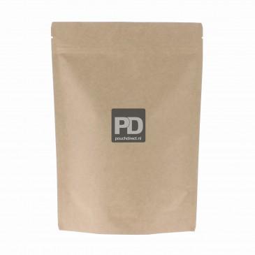 Sachet Stand Up Papier Kraft brun - biodégradable-130x210+(40+40)mm