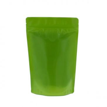 Des sachets debout recyclables à 100% - Sans aluminium (recycler le code 4) Vert