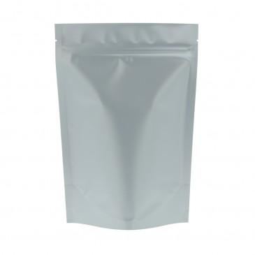 Sachet Stand Up Argent mat avec-160x230+{45+45} mm (mattBopp)