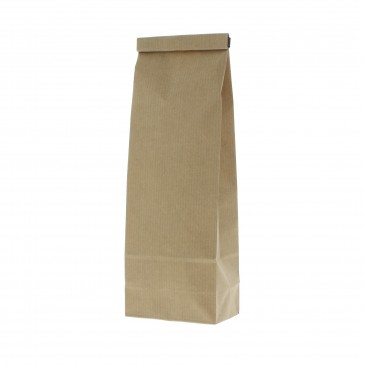 Block bottom pouch kraft paper 2 layer