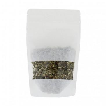 Sachet Stand Up Papier kraft Blanc + Fenêtre Pleine Largeur-Sans aluminium