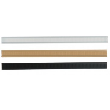 Tin ties, white, kraft look & black