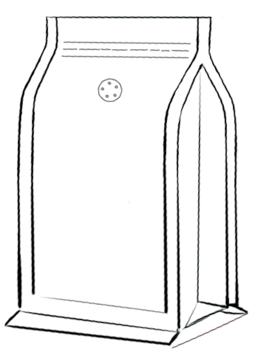 Flat Bottom koffiezak met zipper